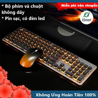 Bộ Bàn Phím Và Chuột Không Dây GLK350 PRO Có Đèn Led Siêu Đẹp, Sử Dụng Pin Sạc Siêu Trâu, Thiết Kế Mới thumbnail