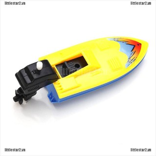 {MUV} 1 PC 1 PC Summer Outdoor Pool Ship Toy Wind Up Swimming Motorboat Boat Toy For Kid{FC}