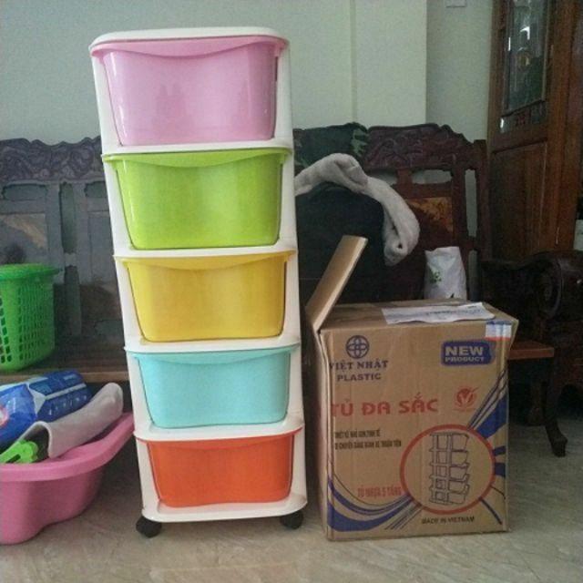 Tủ nhựa 5 tầng Việt Nhật(kt 37*37*98cm)