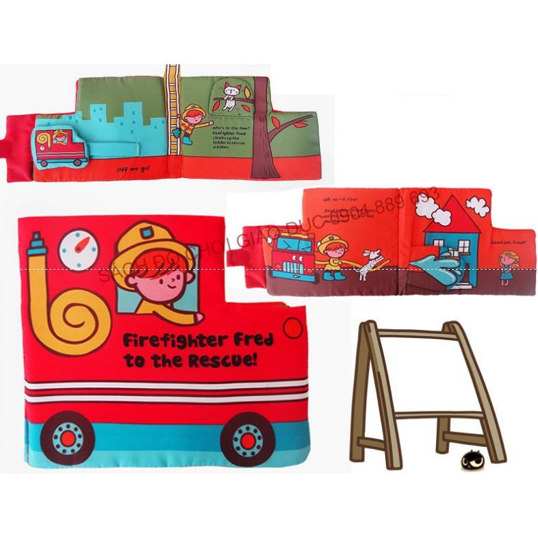 Sách vải lật mở xe cứu hỏa, lính cứu hỏa (sách vải phương tiện giao thông)