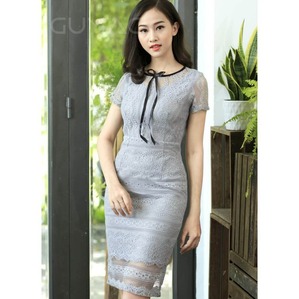 Đầm body ren Gumac sz S