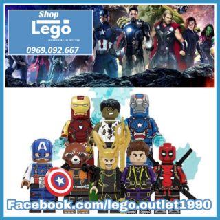 Xếp hình Iron Man - Captain America - Deadpool - Hawkeye - Hulk - Rocket Racoon - Loki Lego Minifigures POGO PG8271 thumbnail
