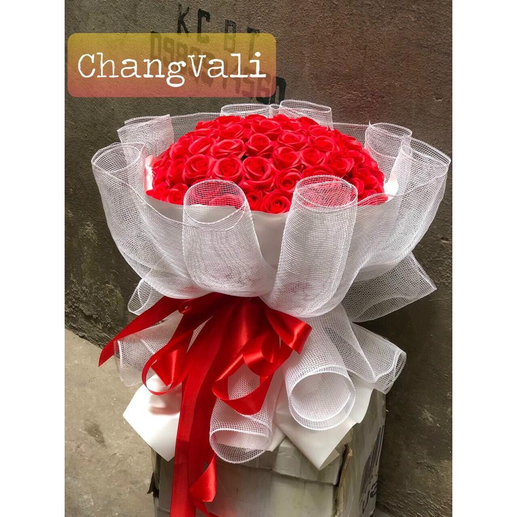 (Qua tang 8/3) Bó hoa sáp 50 bông sang chảnh (inbox chọn màu)