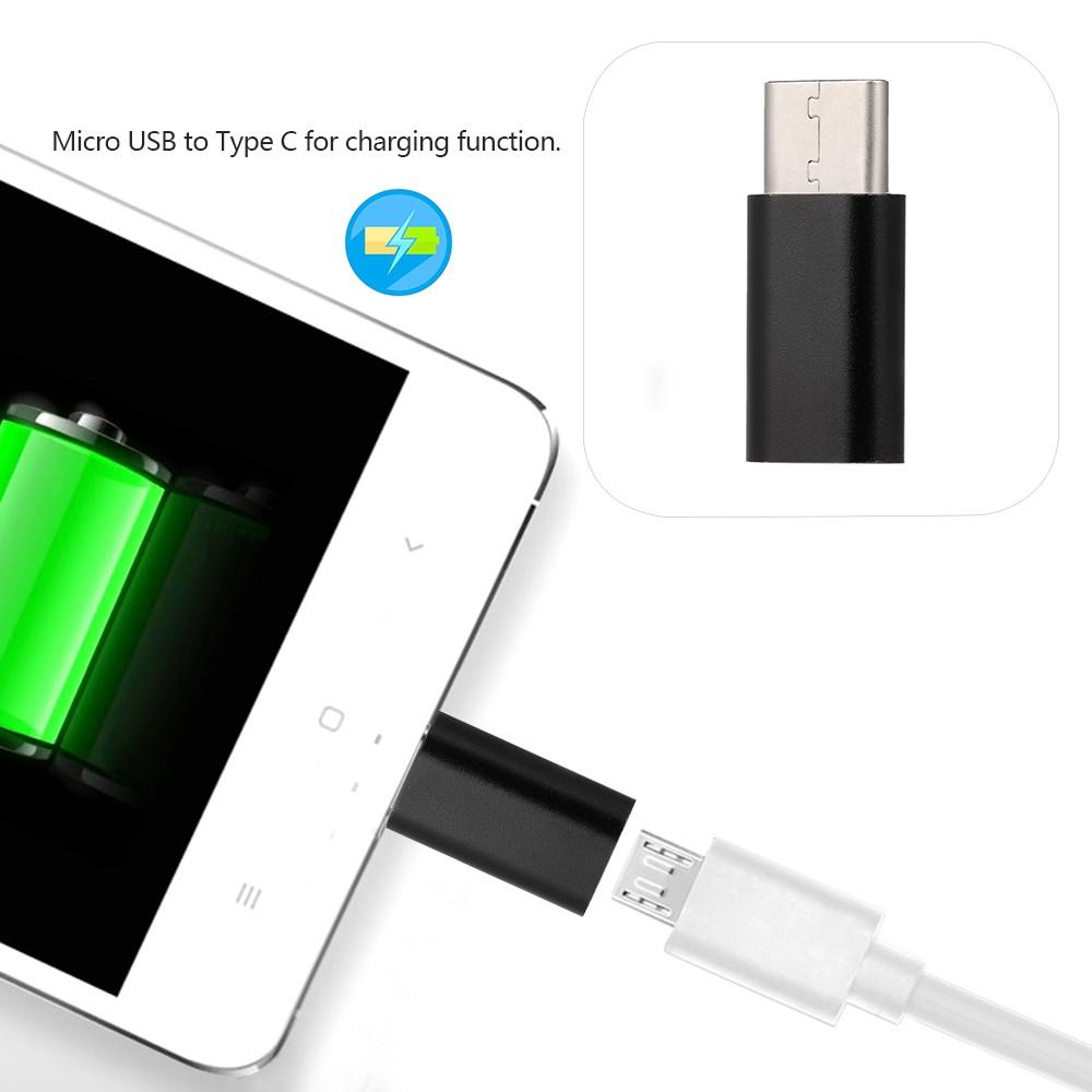 Adapter chuyển đổi Micro USB sang Type-C cho Macbook Tablets Laptop Giá chỉ 60.000₫