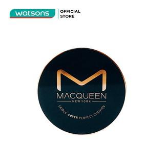 Phấn Nước Macqueen Newyork Siêu Che Phủ Triple-Cover Perfect Cushion 13G . 23 Natural Tone Cover