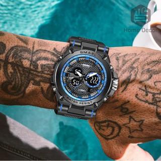 Đồng hồ nam SMAEL điện tử kết hơp màn hình cơ thể thao chính hãng đa chức năng siêu bền chống nước,chống va đập.