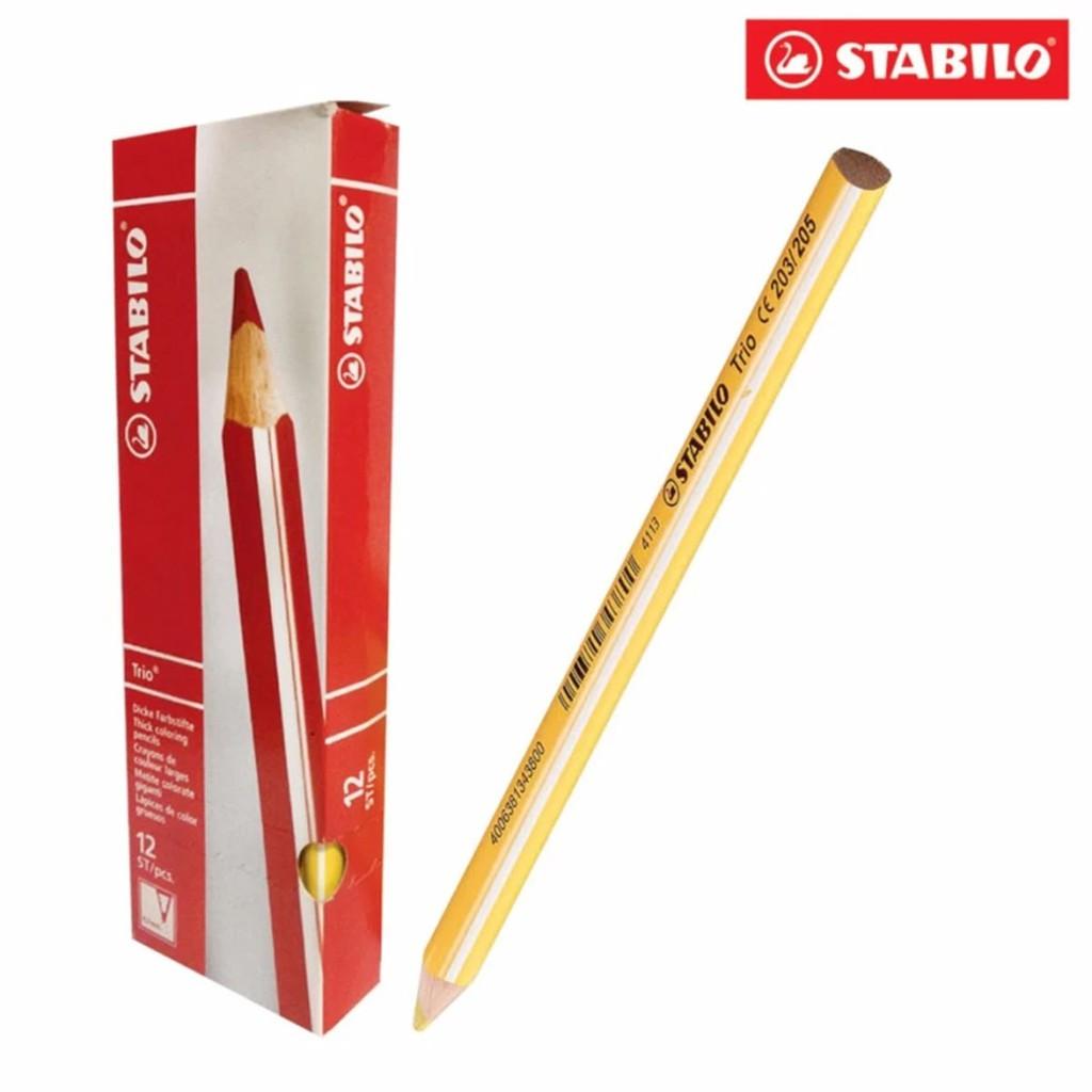 Hộp 12 cây bút chì màu STABILO Trio (vàng cam)