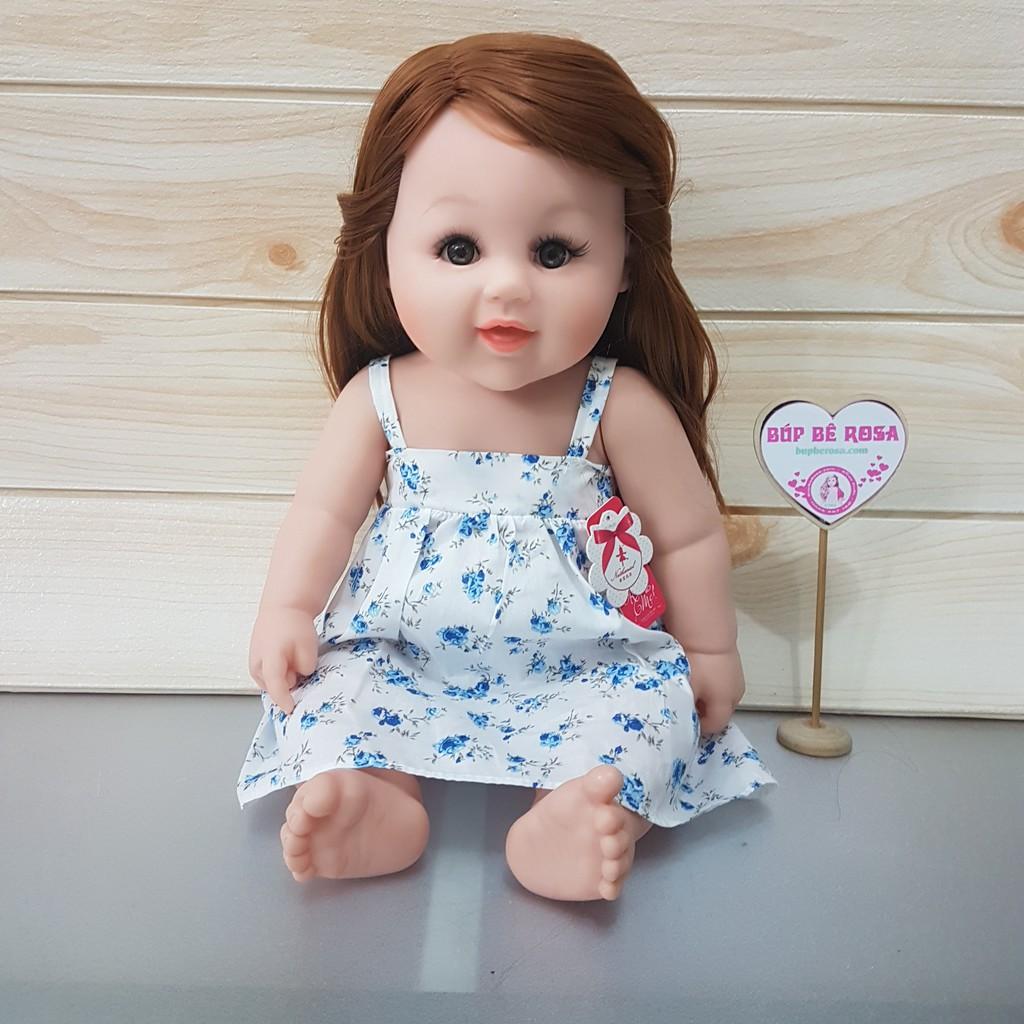 Búp bê thời trang Nathaniel 19 inch - 48 cm- tóc đen 2 mái, đầm hoa - American Girl Doll for Europea