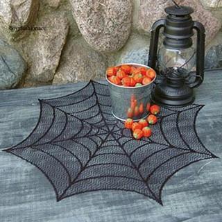Khăn trải bàn hình mạng nhện trang trí tiệc halloween - hình 4