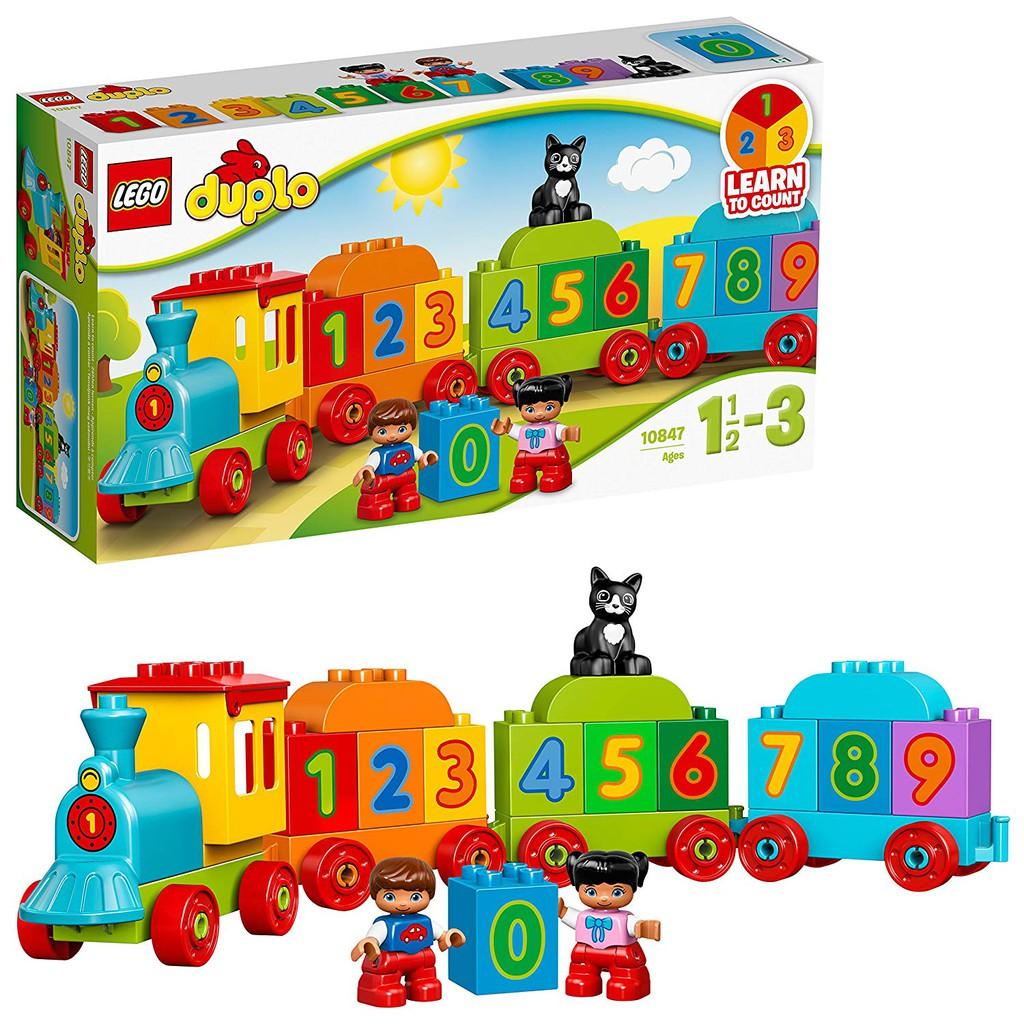 LEGO® DUPLO Tàu Lửa Học Số Mới 10847