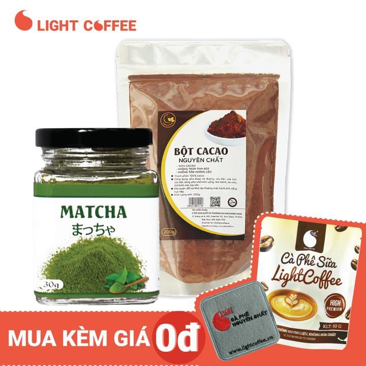 Combo Hủ Matcha Nhật nguyên chất 30g + Cacao nguyên chất 200g...