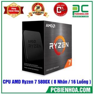 BÔ VI XỬ LÝ AMD RYZEN 7 5800X 32MB 3.8GHZ BOOST 4.7GHZ 8 NHÂN 16 LUỒNG CHÍNH HÃNG thumbnail