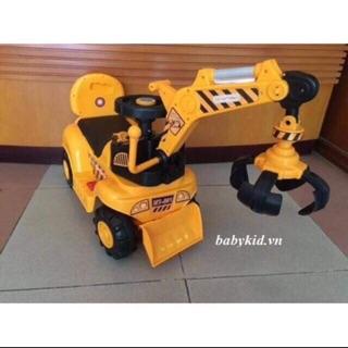 Xe cần cẩu máy xúc điện trẻ em