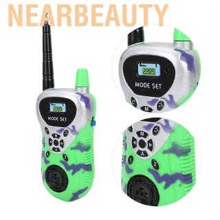 Nearbeauty 2pcs Mini Walkie Talkies For Children Kids Learning Talking Electronic Radio Interphone Outdoor Toy Gift