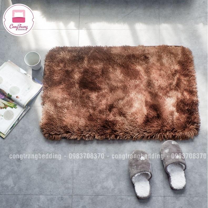 Thảm lông mềm trải chân giường, lót ghế ngồi nhiều size 40x60 mặt sau có chống trượt