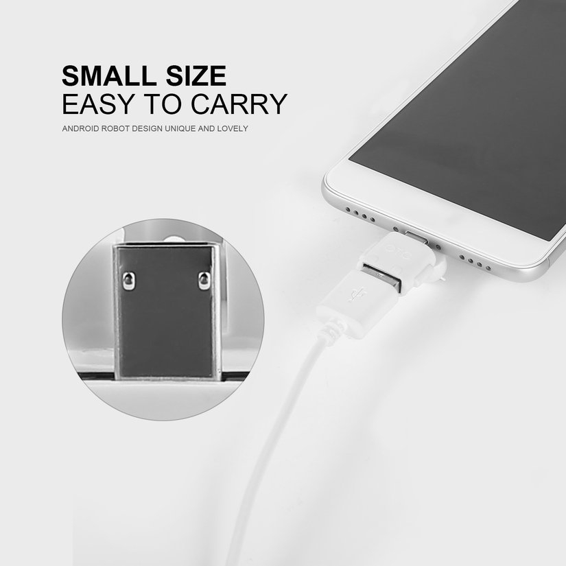 8.15【HOT】Micro USB 2.0 Host Male to USB Female OTG Adapter For Android Tablet PC Phone Giá chỉ 5.000₫