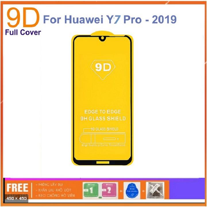 Huawei Y7 Pro 2019_kính cường lực 9D full màn hình tặng keo chống h