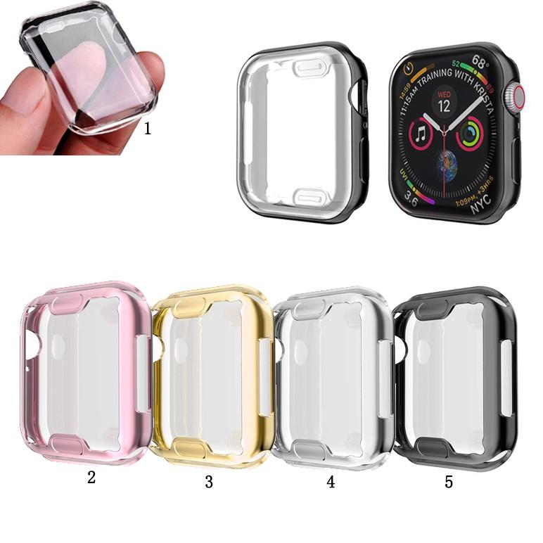 Vỏ bọc TPU mềm trong suốt bảo vệ cho đồng hồ thông minh Apple Watch 5/4/3/2/1 (38/40/42/44mm)