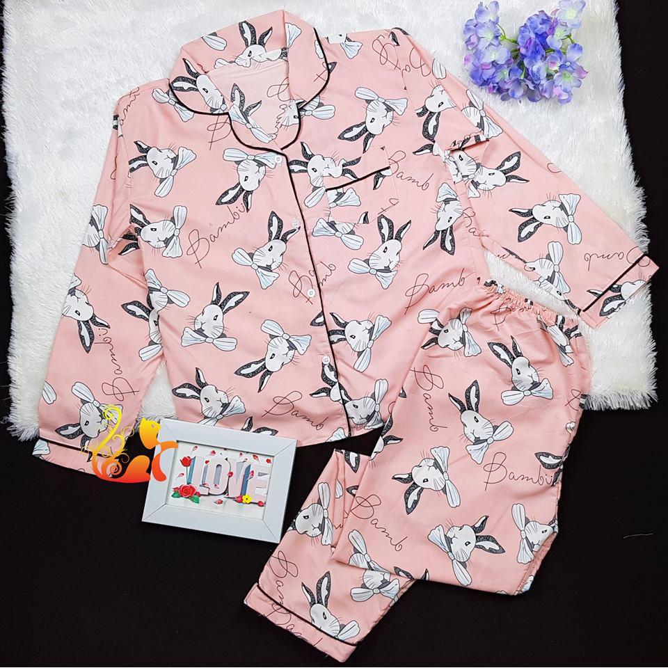 """Đồ bộ Pijama Dài Kate Thái - """"Thỏ Bamboo"""" - Dưới 60kg"""