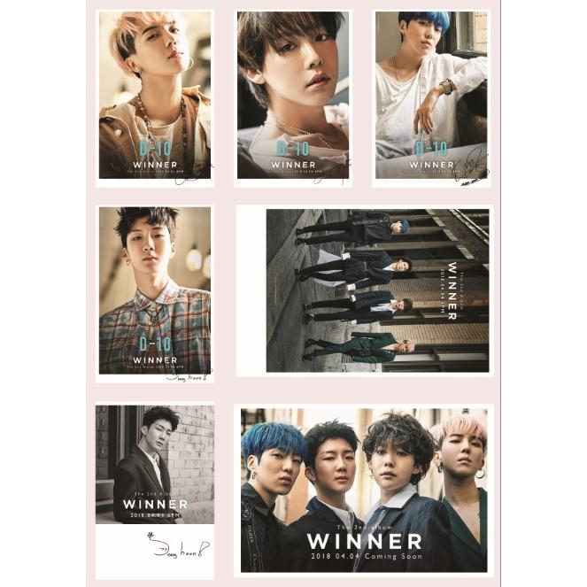 Lomo Card ảnh nhóm WINNER full 30 ảnh Có c