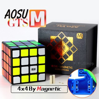 Moyu AoSu GTS M 4x4x4 Magnetic Speed Magic Cube Professional Toy for Competition