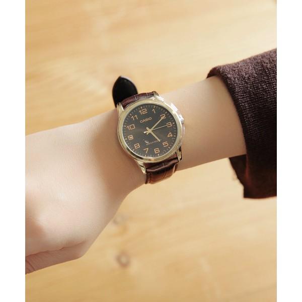 Đồng hồ nam CASIO chính hãng MTP-V001, dây da