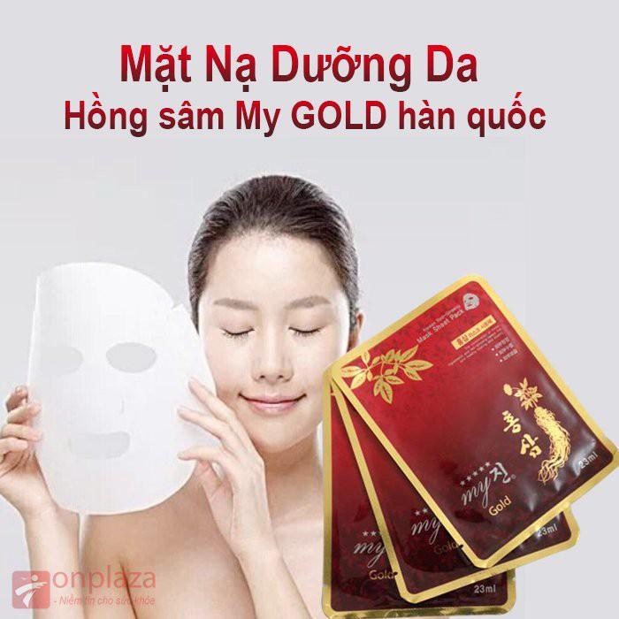 01 Miếng Mặt nạ My Gold Sâm đỏ