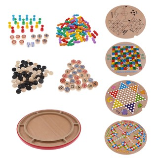 18-in-1 Wooden Chess Board Game Children Intelligence Toy Playset