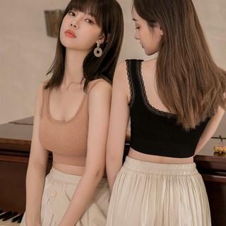 Áo bra nữ cổ vuông hở lưng chữ U hai dây ren dễ thương freesize 37-60kg 1535