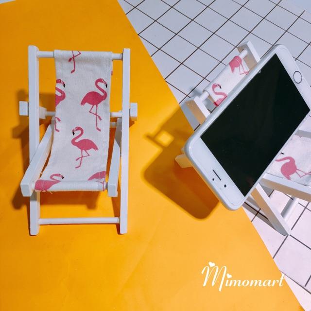 Giá gỗ đỡ điện thoại hồng hạc