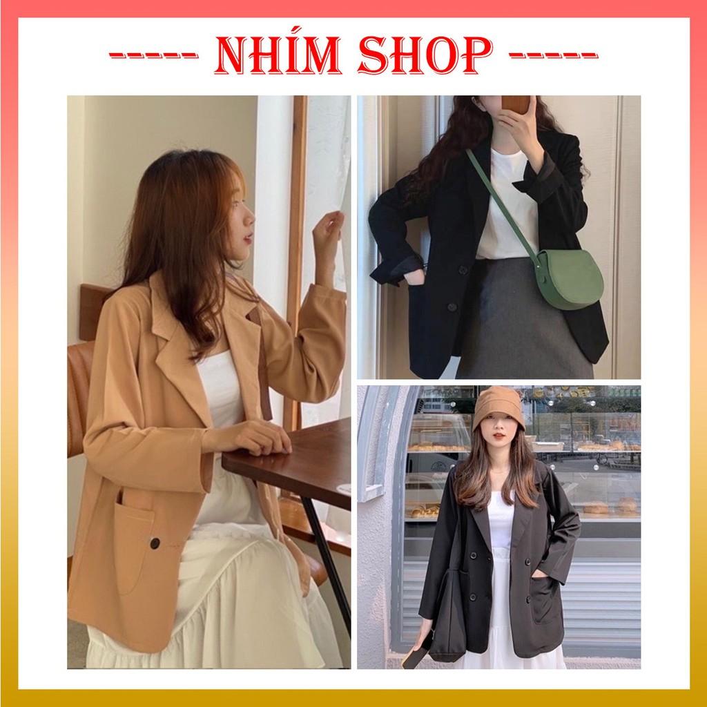 Blazer nữ Hàn Quốc form rộng ♥️ Áo blazer nữ trơn siêu xinh ♥️ Áo khoác blazer dáng rộng BZ01