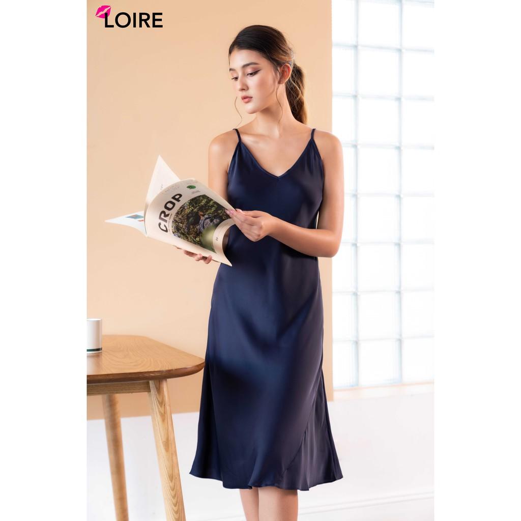[Mã WABRLRC1 giảm 10% đơn 99K] Váy 2 Dây Lụa Cao Cấp Cổ Tim LOIRECHIC LSL04