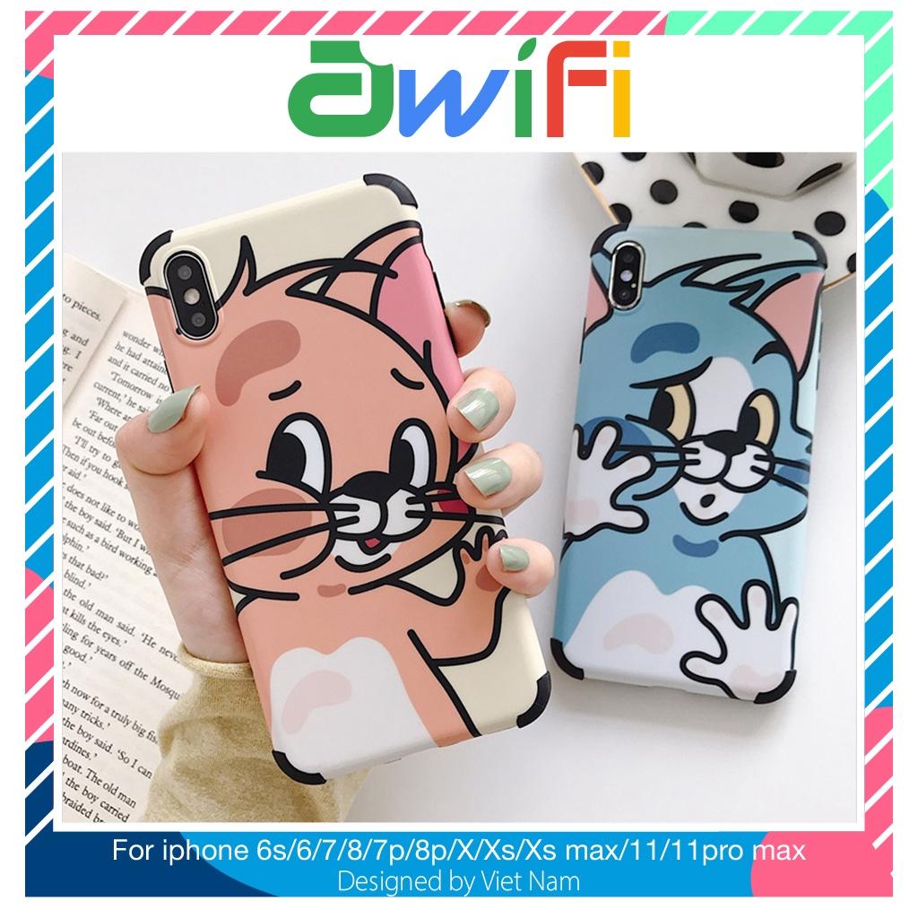 Ốp iphone - Ốp lưng Tom và Jerry IMD 5/5s/6/6s/6plus/6s plus/7/8/7plus/8plus/x/xs/xs max/11/11pro max  - Awifi Case B4-3