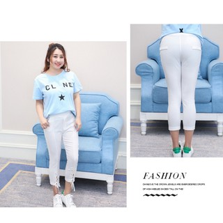quần kaki thun big size màu trắng lỡ đan dây size 65-90kg thumbnail