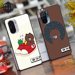 Ốp lưng kính cường lực Xiaomi Redmi K40 ( Poco F3 ) / Redmi K40 Pro gấu bé