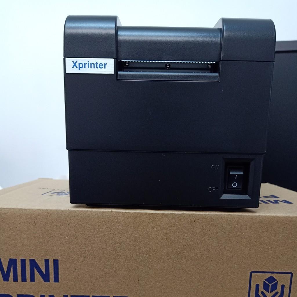 Máy in mã vạch, tem nhiệt trà chanh trà sữa khổ 1 tem giá rẻ Xprinter XP-235B