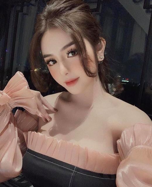 [HOT] Váy body trễ vai tay bồng chất lụa bóng siêu xinh | SaleOff247