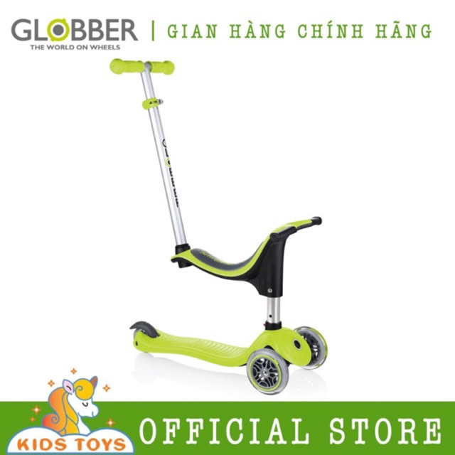 Xe trượt scooter Globber My Free Seat 4 in 1 - Xanh lá