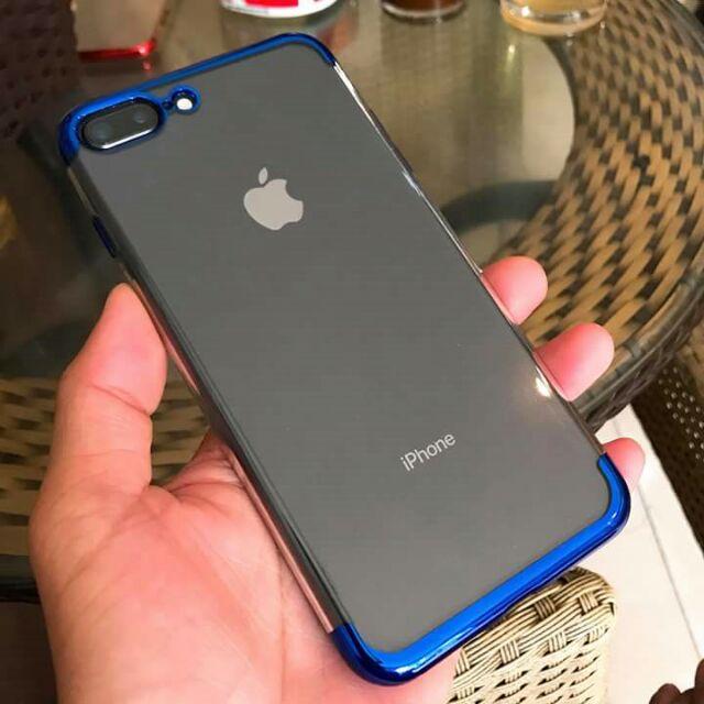 Ốp iphone 6/6s 6/6splus 7/8plus iphone x silicon trong 2 đầu sơn tĩnh điện