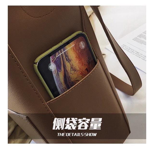 Túi ulzzang, túi tote da vừa A4 hàng quảng châu dày đẹp - ST153