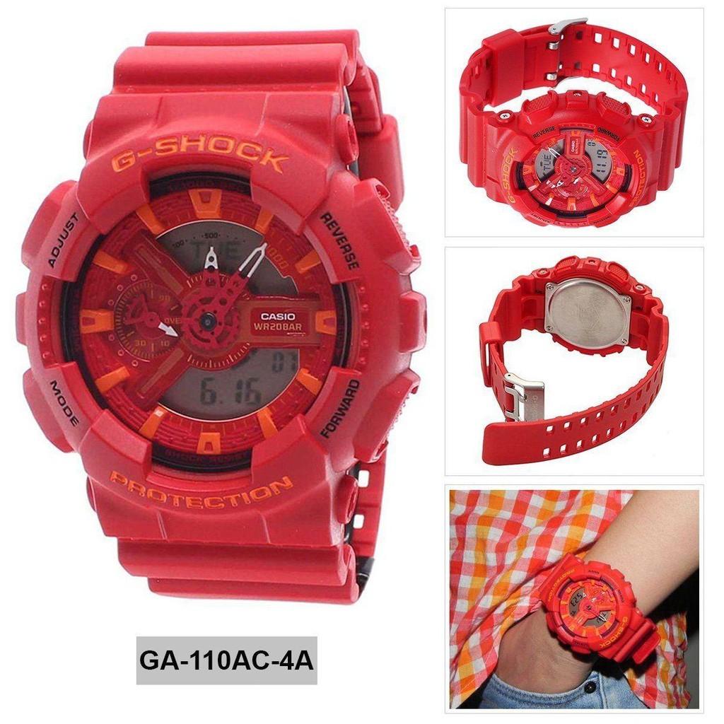 Đồng hồ nam dây nhựa G-SHOCK chính hãng Casio Anh Khuê GA-110AC-4ADR