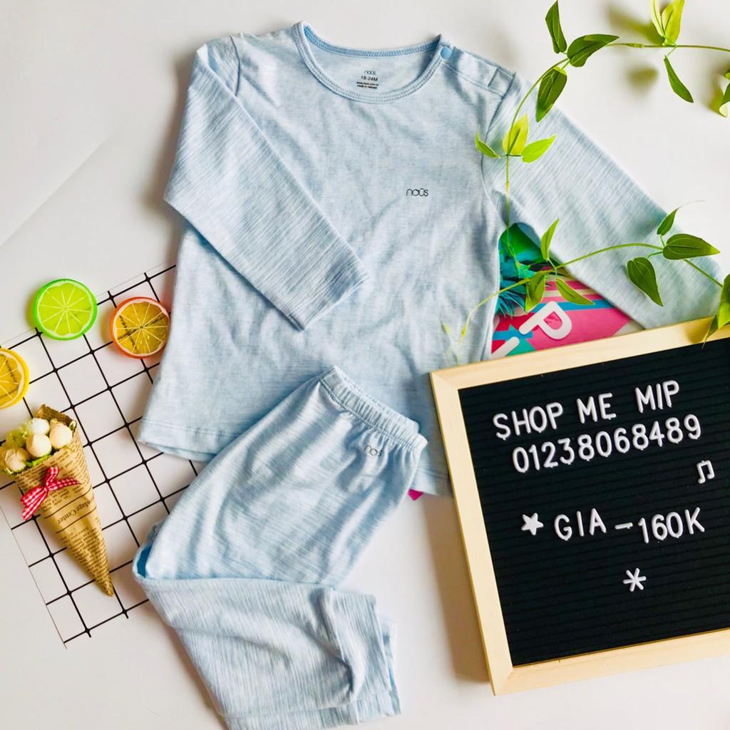 Bộ Cài Vai NOUS Dài Tay Bé Trai- Màu Xanh- Shop Mẹ Míp- 89B Dốc Bệnh Viện Phụ Sản Hà Nội