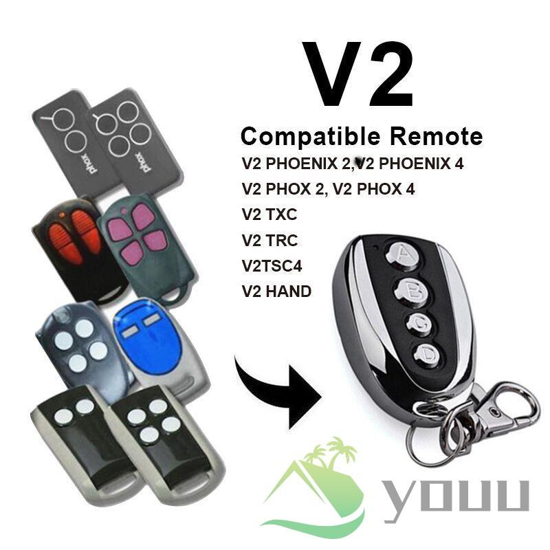 1 Pcs Garage Door Remote Control Key 433.92mhz for V2 Phoenix Phox TXC TRC TSC4 Handy