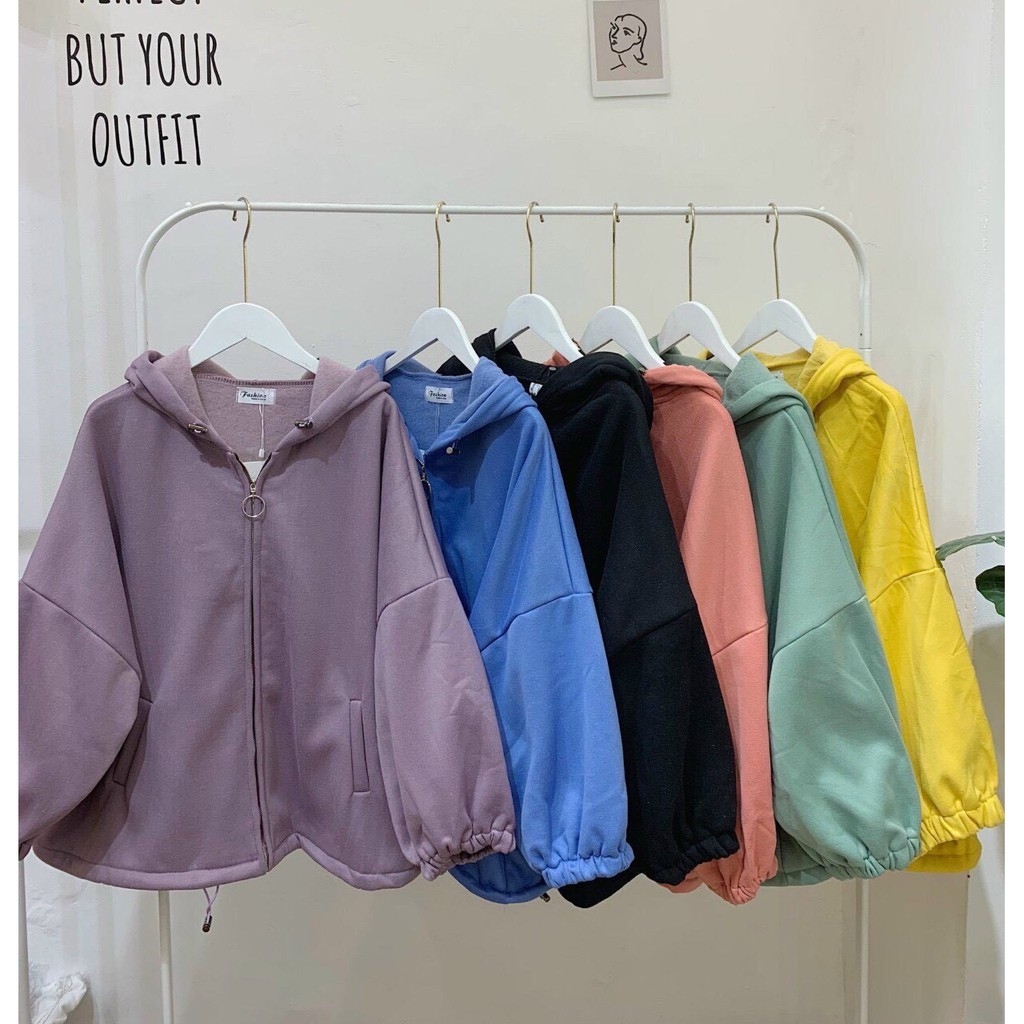 Áo khoác nỉ ngoại hoodie BASIC form rộng khóa kéo tròn áo nỉ nam nữ Unisex AN1 Guvia