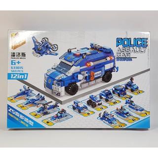 Bộ lắp ghép LEGO Ô TÔ CẢNH SÁT 12in1 569 chi tiết