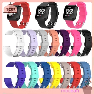 FITBIT Dây Đeo Thay Thế Cho Đồng Hồ Thể Thao Bằng Silicone Mềm Mocean