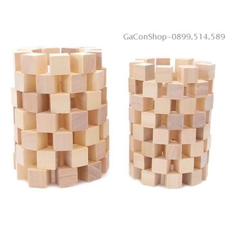 100 khối gỗ vuông và những ý tưởng sáng tạo