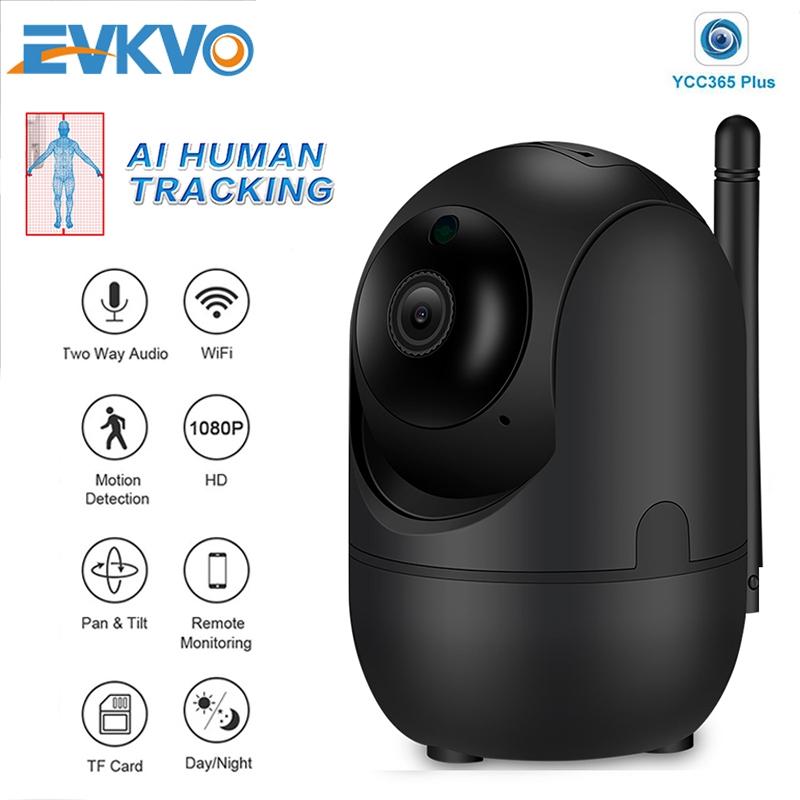 ( Theo dõi tự động thông minh ) YCC365 PLUS APP Quay Wireless HD 1080P WIFI PTZ IP Camera CCTV Home Security Surveillance Network Camera IP Tầm nhìn ban đêm hồng ngoại Baby Monitor Đàm thoại hai chiều