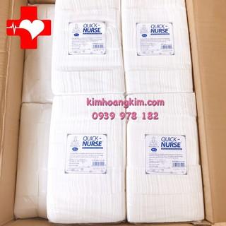 Bông Gòn y tế cắt sẵn Quick Nurse dùng cho spa (6x6cm) 500gr, Gòn vuông Quick Nurse 500gr thumbnail