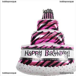 Bong Bóng Tráng Nhôm Thiết Kế Chữ Happy Birthday Dễ Thương Đáng Yêu Dùng Để Trang Trí Tiệc Sinh Nhật Tiện Dụng
